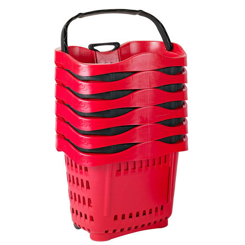 Plastic Basket Trolley In Subarnapur